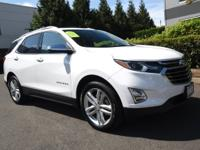 Certified. White 2019 Chevrolet Equinox Premier AWD