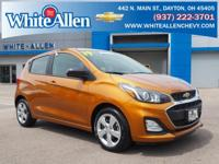 Clean CARFAX. Certified.Orange 2019 Chevrolet Spark LS