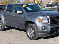 Clean CARFAX. Certified. Steel Metallic 2019 GMC Canyon