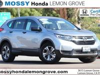 Certified. CARFAX One-Owner. Lunar 2019 Honda CR-V LX