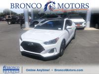 Certified. White 2019 Hyundai Veloster 2.0 FWD 6-Speed