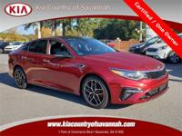 Passion Red 2019 Kia Optima SX Turbo FWD Certified