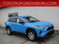 Certified. Blue Flame 2019 Toyota RAV4 LE AWD 8-Speed