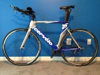 I am selling a 2009 Cervelo P2 Ultegra carbon tri bike