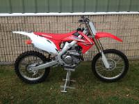 2009 CRF 450R. This bike is factory fresh with 2.8