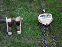 i have several different chain hoist and trollies in