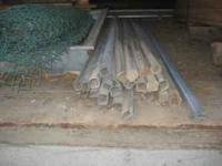 "Chain Link Fence Posts 25 pieces - 8' 8"" 3 pieces - 10'"
