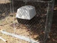 15ft long by 7.5 ft wide & 4ft high chain link kennel