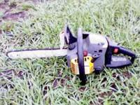 ITS A PRO-MAC 3505av chainsaw runs great no
