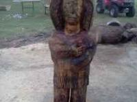 This indian was chainsaw carved. 5 feet tall and 2 feet