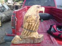 Hello my name is darick rice i am the chainsaw carver