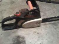 Got a good Remington 3.0 chainsaw. Its electric and
