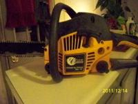16 in 38cc poulan pro 50$ firm runs and works real good