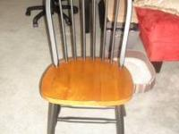 Almost Brand new two toned wood chair Black & Brown in