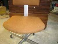 office chair, don,t need anymore, adjustable, orange in