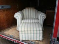 Chair and footstool in good condition.  Location: