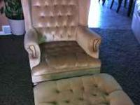 Nice chair and ottoman, good condition, $50.00 call Pat