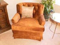 TWO upholstered swivel rockers (like new). The