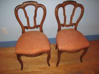 Antique: chairs. Matching Pair. 1860's.  Good