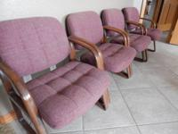 STURDY PADDED OFFICE/LOBBY/HOME FURNISHING CHAIRS.  Set