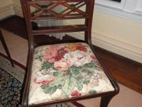 Mahogany chair (floral fabric)--- $30 Queen size