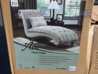 Chaise Lounge - Tan color, includes pillow Model: Ava