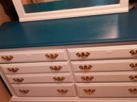 lovely 6 drawer chalk board painted dresser. solid wood