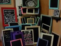 Large collection of chalkboard frames/signs for sale!