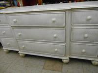 7 drawer dresser. Remodeled 100 year old piece. Painted