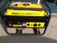 Description Champion 3,500/4,000-Watt Generator