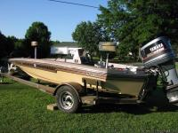 Sixteen foot 8 inch Classic Champion Bass Boat.