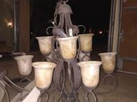 Selling a nine bulb 2 tier chandelier, the Tuscan