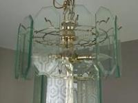 Type: Dining Room Type: Chandelier Gold and glass
