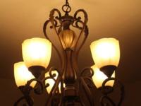 Beautiful 5 bulb chandelier! This ad was posted with