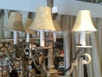 Stunning Antique Gold Surface Chandelier. 6 Lighting
