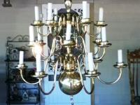 This beautiful Brass Chandelier is 30 inches 21/2 feet