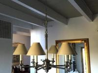 Beautiful Classic 6-arm Chrome Chandelier with Shades