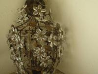 For sale a beautiful crystal flower chandelier with 5