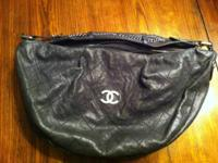 Chanel Black Caviar Leather Outdoor Ligne Large Hobo