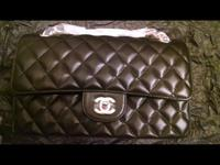 100% Authentic CHANEL Classic double flap bag with Gold