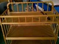 Wood changing table no pad $45.00 email this ad or call