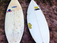 "USED SURFBOARDS:  1) 5'11"" MAD (Marty Allen Designs)"