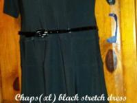 Chaps-(xl)black-stretch dress, NEW with tags!! On sale