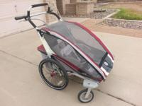For sale is a used Chariot CX2 double child carrier