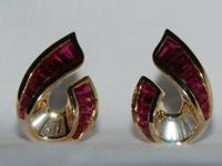 CHARLES KRYPELL AMAZING RUBY & DIAMOND EARRINGS