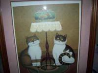 Charles Wysocki Cat Print - Shall We edition size: