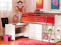 Ideal for smaller rooms, this loft bed provides a