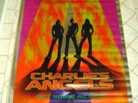This is a Charlie's Angels Original Vinyl Movie Banner