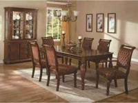 Charming Cherry finish Parson's Table Dining Room set