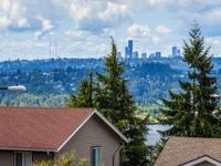 Stunning Lake Washington, Mt. Rainier and city views